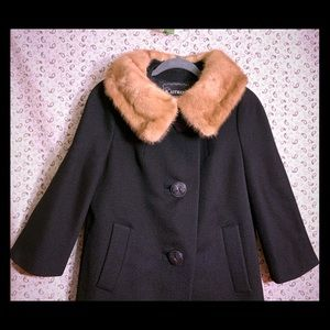 Vintage Overcoat with mink collar